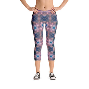 """O! For a Muse of Fire"" Standard, Made to Order Capri Yoga Pants - And Above All...YOGA"