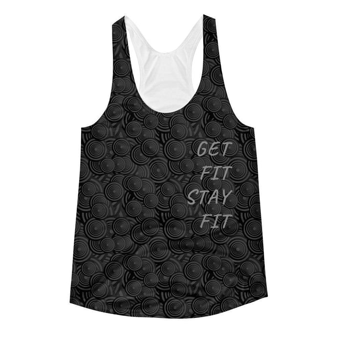 """Paint it Black"" Women's Racerback Tank Top - And Above All...YOGA"