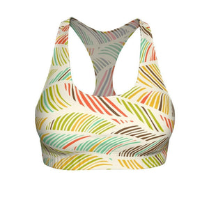 """Palm Fronds"" Cut & Sew Sports Bra - And Above All...YOGA"