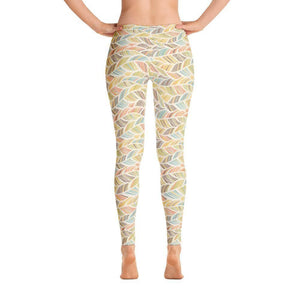 """Palm Fronds"" Yoga Pants - And Above All...YOGA"