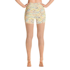 """Palm Fronds"" Yoga Shorts - And Above All...YOGA"