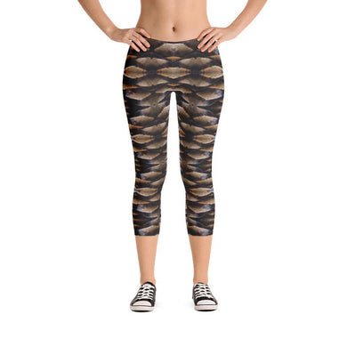 Pinecone Illusion Standard Made to Order Capri Yoga Pants-yoga wear for women-fitness wear, yoga pants, capris, $30-$50-And Above All...YOGA