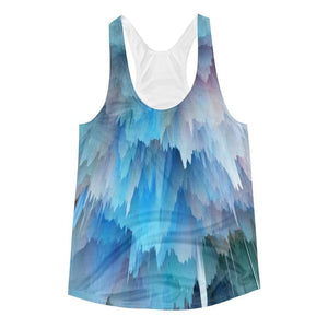 """Pink & Blue Explosion"" Women's Racerback Tank Top - And Above All...YOGA"