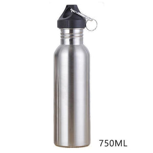Portable sport drinking water bottle stainless steel (350ml / 500ml / 750ml) - And Above All...YOGA