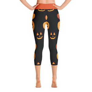 """Pumpkin Patch"" Deluxe, Made to Order Capri Yoga Pants - And Above All...YOGA"