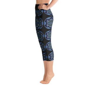 """Quietude"" Deluxe Capri Yoga Pants - And Above All...YOGA"