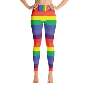 """Rainbow"" Deluxe Yoga Pants - And Above All...YOGA"