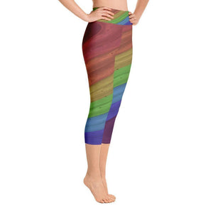 """Rainbow Flow"" Capri Yoga Pants - And Above All...YOGA"