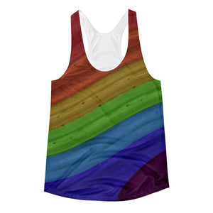 """Rainbow Flow"" Women's Racerback Tank Top - And Above All...YOGA"