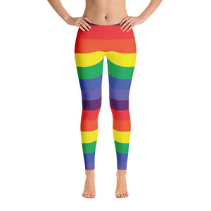 """Rainbow"" Standard Yoga Pants - And Above All...YOGA"