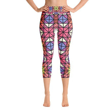 """Red- Blue"" Capri Yoga Pants - And Above All...YOGA"