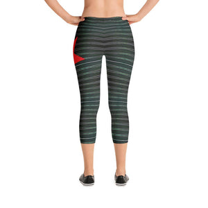 """Red Star"" Capri Yoga Pants - And Above All...YOGA"
