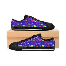 """Royal Flowers"" Deluxe Women's Sneakers - And Above All...YOGA"