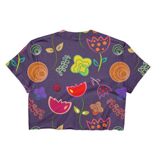 """Royal Flowers"" Women's Crop Top - And Above All...YOGA"