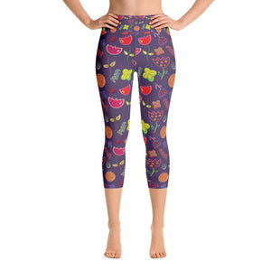 """Royal Flowers"" Yoga Capri Leggings - And Above All...YOGA"