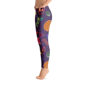 """Royal Flowers"" Yoga Pants - And Above All...YOGA"