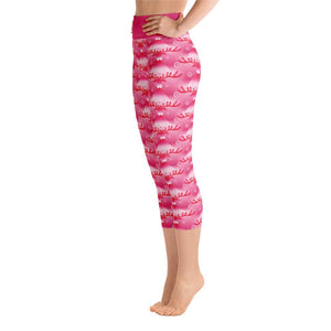 """Rudolph's Red Nose"" Deluxe, Made to Order Capri Yoga Pants - And Above All...YOGA"