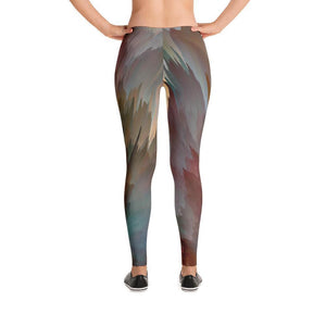 """Rust Abstract"" Yoga Pants - And Above All...YOGA"