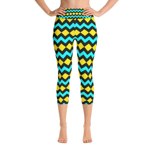 """Southwest Diamondback"" Capri Yoga Pants - And Above All...YOGA"