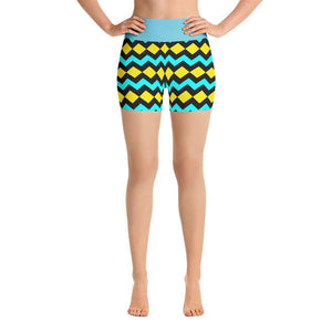 """Southwest Diamondback"" Yoga Shorts - And Above All...YOGA"