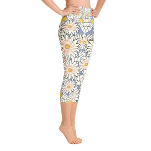 """Spring Petals"" Capri Yoga Pants - And Above All...YOGA"