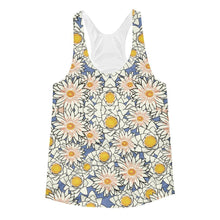 """Spring Petals"" Women's Racerback Tank Top - And Above All...YOGA"