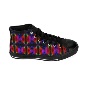 """String Theory Imagined"" Women's High-top Sneakers - And Above All...YOGA"