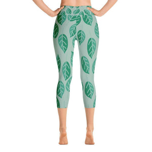 """Summer Leaves"" Capri Yoga Pants - And Above All...YOGA"