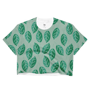 """Summer Leaves"" Women's Crop Top - And Above All...YOGA"
