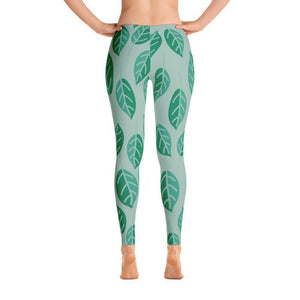 """Summer Leaves"" Yoga Pants - And Above All...YOGA"