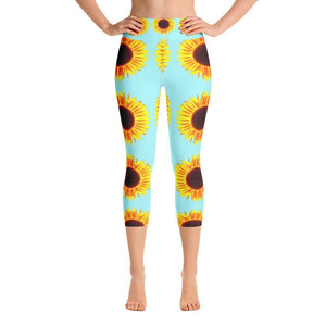 """Sunflower"" Capri Yoga Pants - And Above All...YOGA"