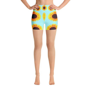 """Sunflower"" Yoga Shorts - And Above All...YOGA"