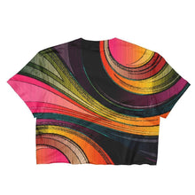 """Swirling Colors"" Ladies Crop Top - And Above All...YOGA"