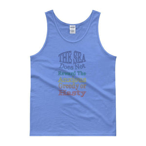 """The Sea Does Not Reward"" Classic Tank top - And Above All...YOGA"