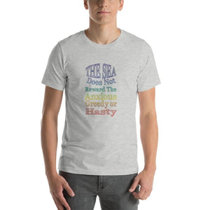 """The Sea does not Reward"" Short-Sleeve Unisex T-Shirt - And Above All...YOGA"