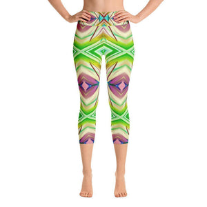 """Transcendence"" Capri Yoga Pants - And Above All...YOGA"