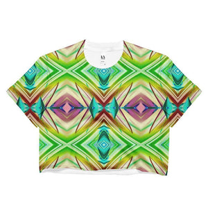 """Transcendence"" Women's Crop Top - And Above All...YOGA"