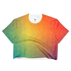 """Warm Glow"" Women's Crop Top - And Above All...YOGA"