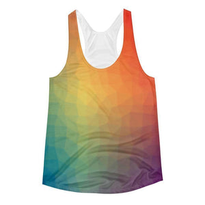 """Warm Glow"" Women's Racerback Tank Top - And Above All...YOGA"
