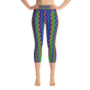 """Waves"" Capri Yoga Pants - And Above All...YOGA"