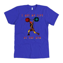 Weight Lifting American Apparel T-Shirt - And Above All...YOGA