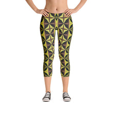 """Yin and Yang"" Made to Order Standard Capri Yoga Pants - And Above All...YOGA"