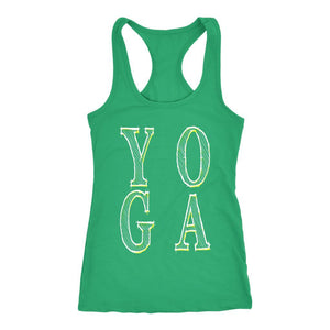 YOGA Next Level Racerback Tank Top - And Above All...YOGA