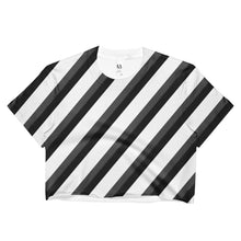 Zebra Stripe Ladies Crop Top - And Above All...YOGA