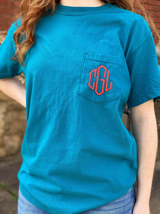 Diamond Monogram Pocket Tee