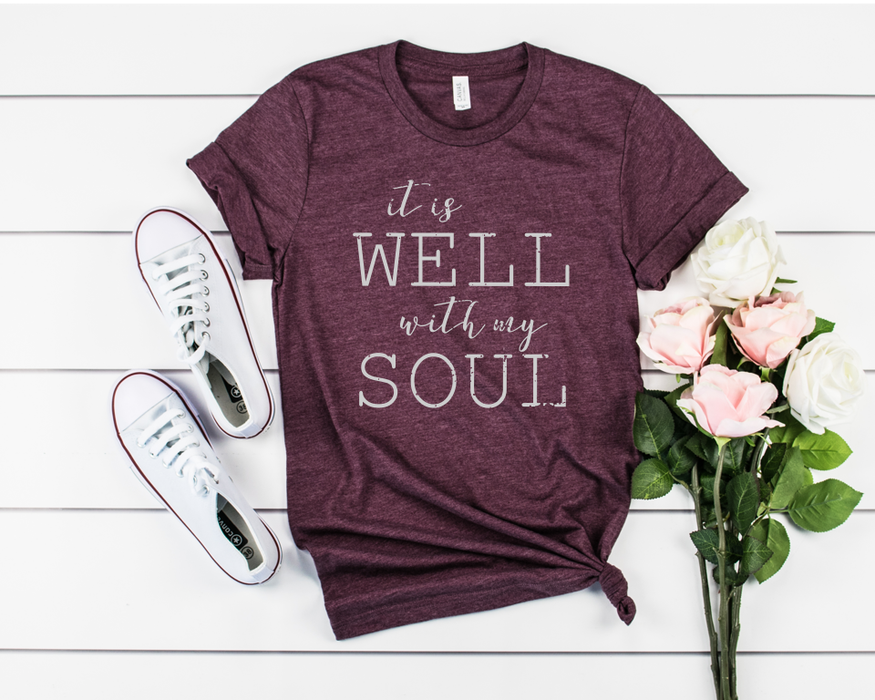 It is well with my soul short sleeve women's t shirt