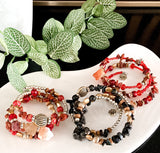 Bohemian Beauty - Gemstone & Beads - Adjustable Bracelets
