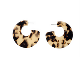 Animal Print Acrylic Hoop Earrings