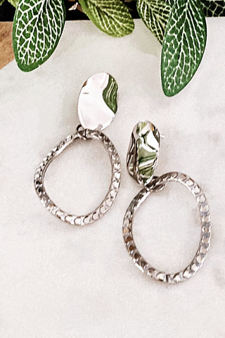 Bedazzled - Lightweight Oval Metal Statement Earrings