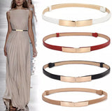 Slimline Leather Adjustable High Waist Fashion Belts
